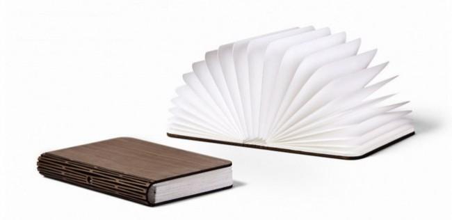 使用时打开书本即是开启灯光,合上书面则能关闭,充满电后可连续使用达