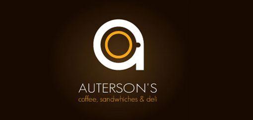 一组以咖啡馆为主题的logo设计作品