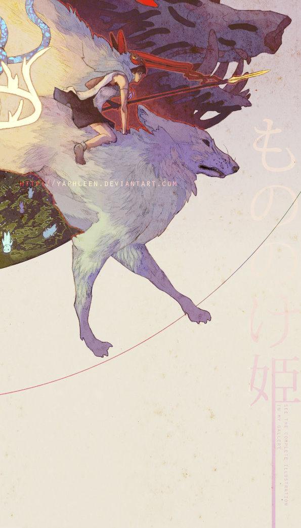 宫崎骏的童话,手绘插画