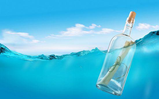 漂流瓶壁纸图片