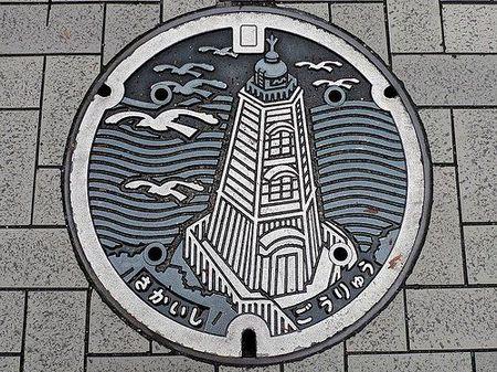 创意图片:日本的井盖文化